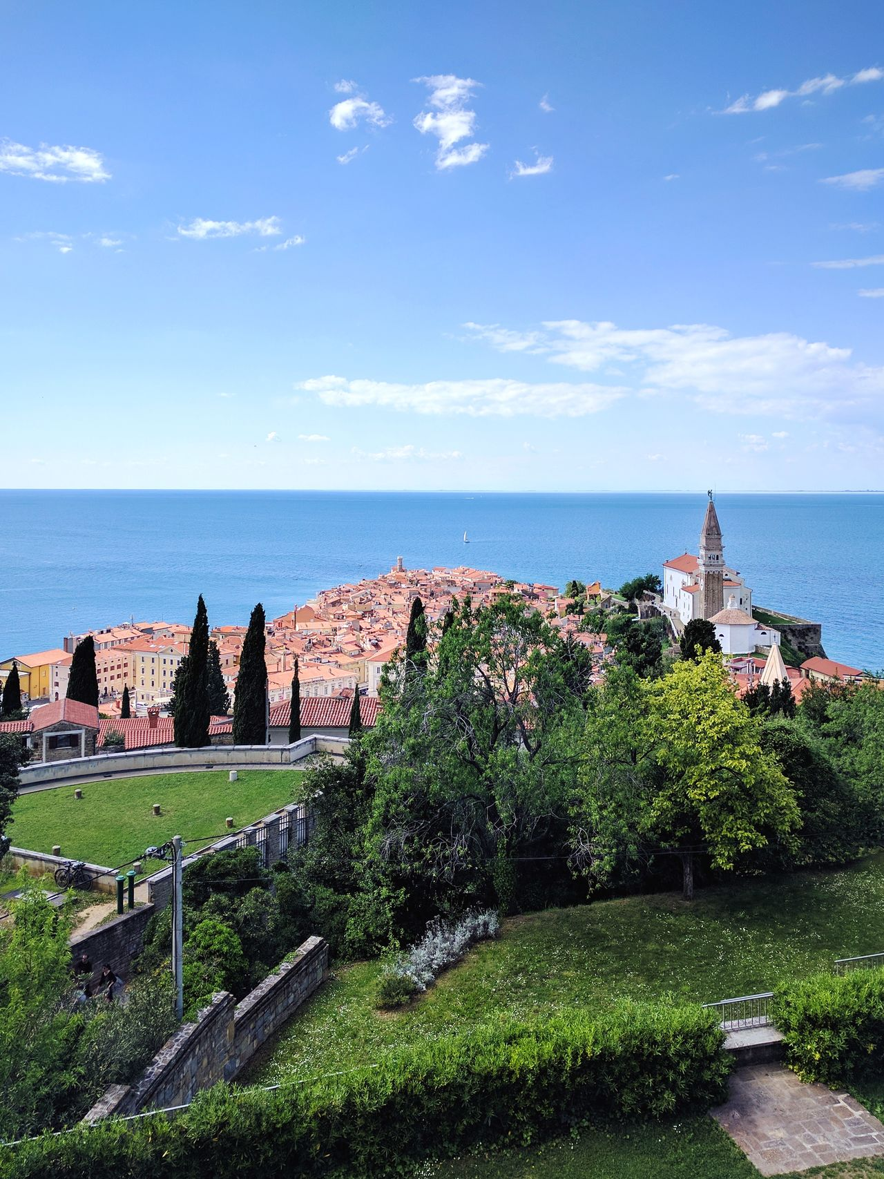 Sea No People Outdoors Day Sky Horizon Over Water Water Nature Flower Old Buildings Old Town Oldtown Old City Historic Historic City Slovenia Castle Piran Mediterranean  Mediterranean Coast Mediterania