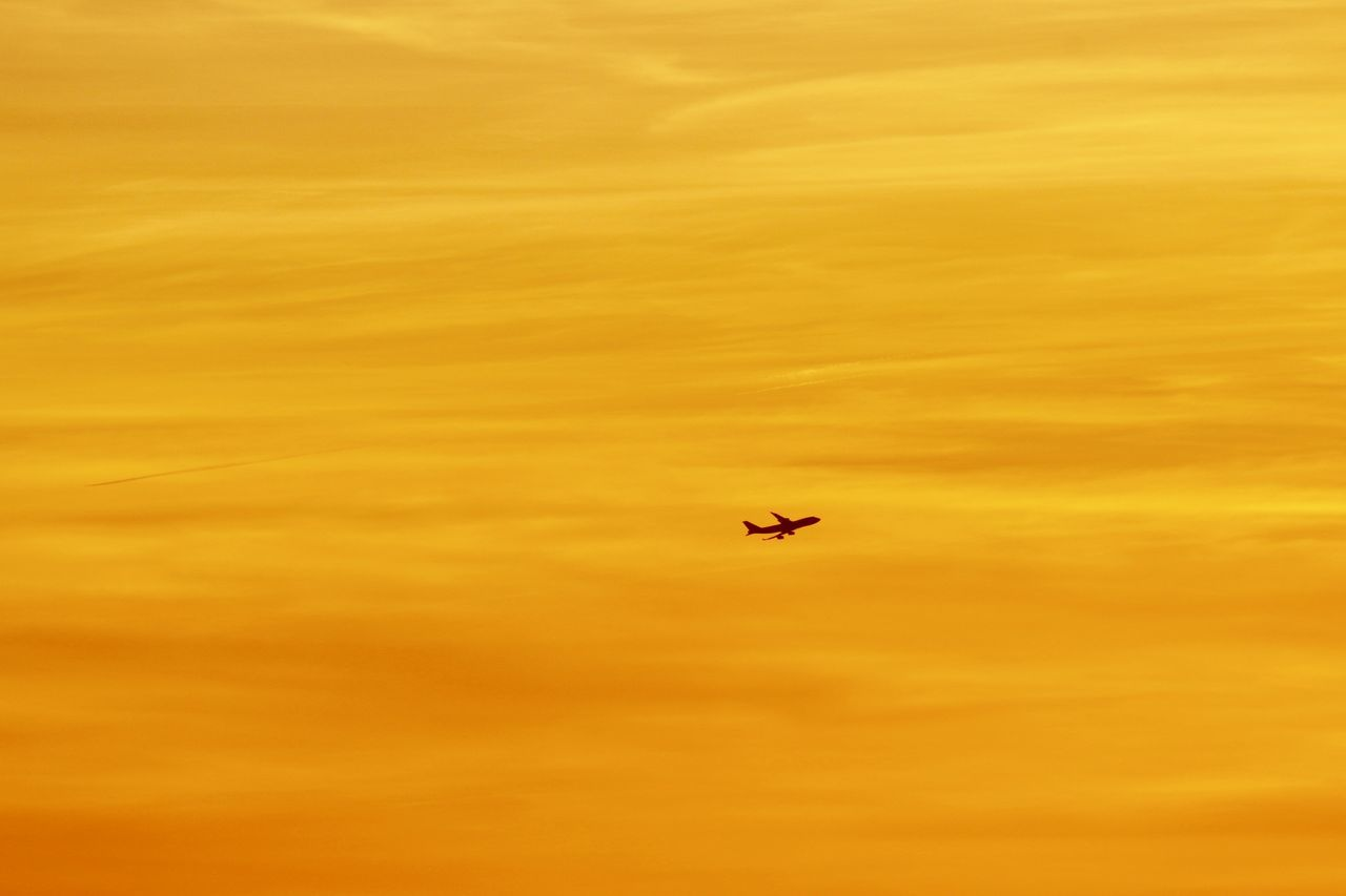 Sky_collection Cloud_collection  Airplane Aircraft Flying Minimalism Silhouette Silhouettes Yellow Outdoors Clouds & Sky Cloud - Sky Sky Silhouette_collection Silhouettes Traveling Home For The Holidays