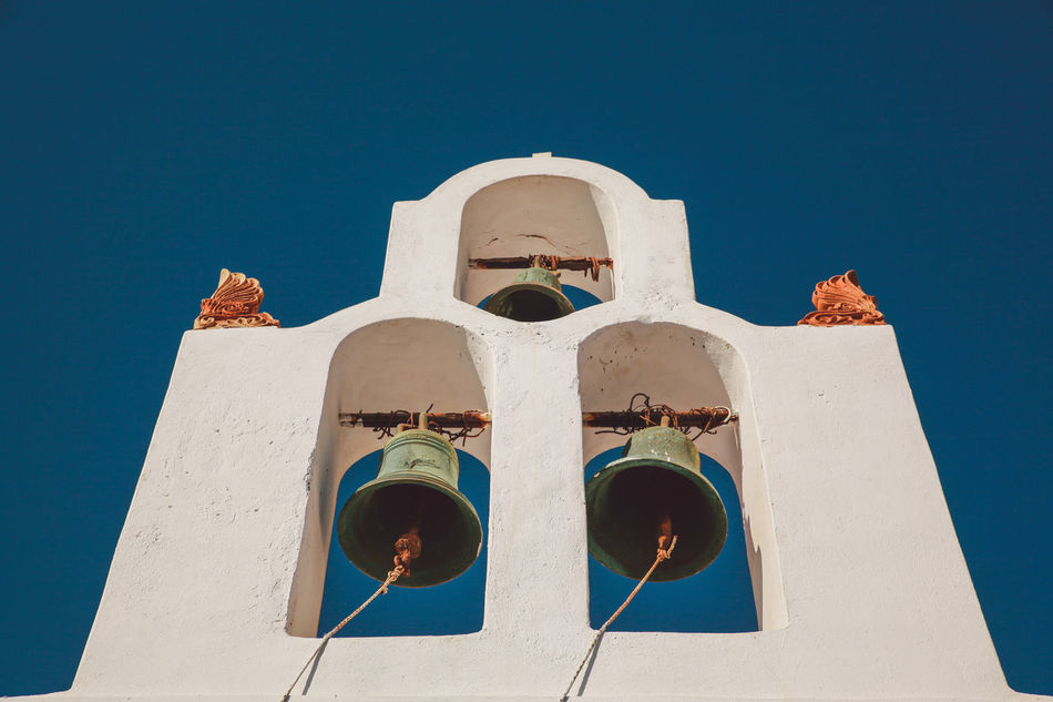 Beautiful stock photos of greece, Arch, Bell Tower - Tower, Blue, Christianity