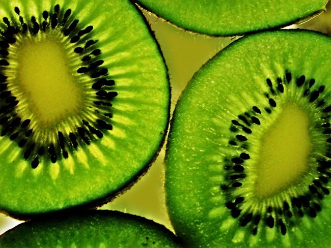 Macro Photography Kiwifruit Use Of Flash Backlit Subject