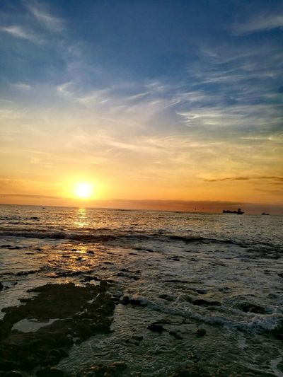 Sunset Water Sea Nature Beach Horizon Over Water Tranquility Day Beauty In Nature