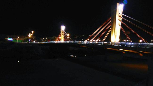 Bridge Bridge View Bridge Over Water Barcelone Espagne SPAIN Barcelona Night Nightphotography Night Lights Sky On The Way