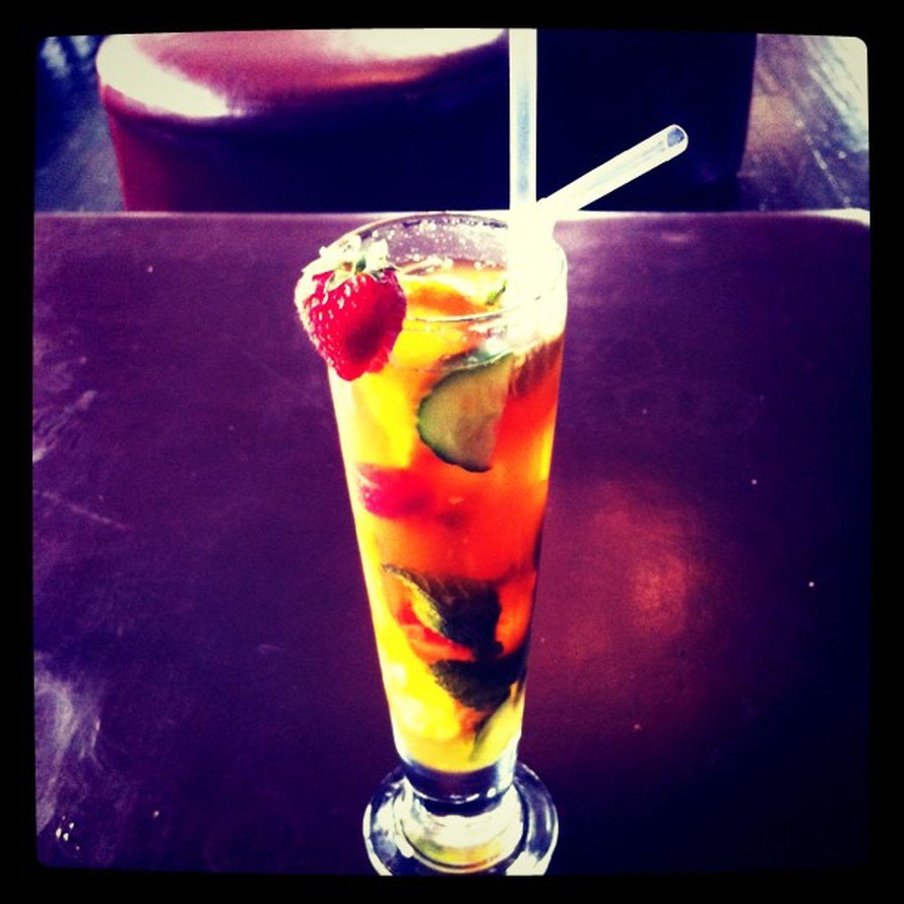 Getting my drink on #pimmsoclock Pimmsoclock
