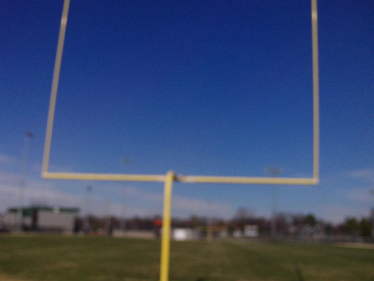 Arkansas Atmosphere Blue Clear Sky Fieldgoal Post Football Green Mid-air