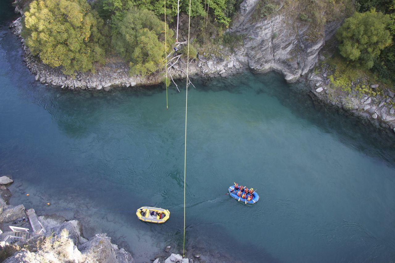 Action Adrenaline Adrenaline Junkie Adventure Beauty In Nature Brave Bridge Bungyjumping Day Floating On Water Lake Mountains Nature Nautical Vessel Outdoors Queenstown Rafting Reflection River South Island Sports Photography Tourism Tranquility Tree Water