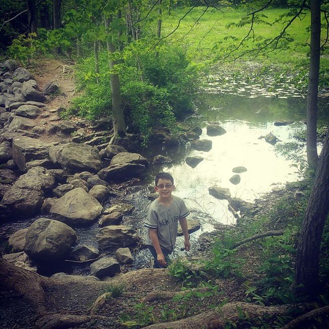 Mother's day hike with my boy! Hike Hikingpennsylvania Hiking Mothersday Mysoniscuterthanyours Myson MyBoy Mybestfriend Lakenockamixon Pennsylvania Buckscounty