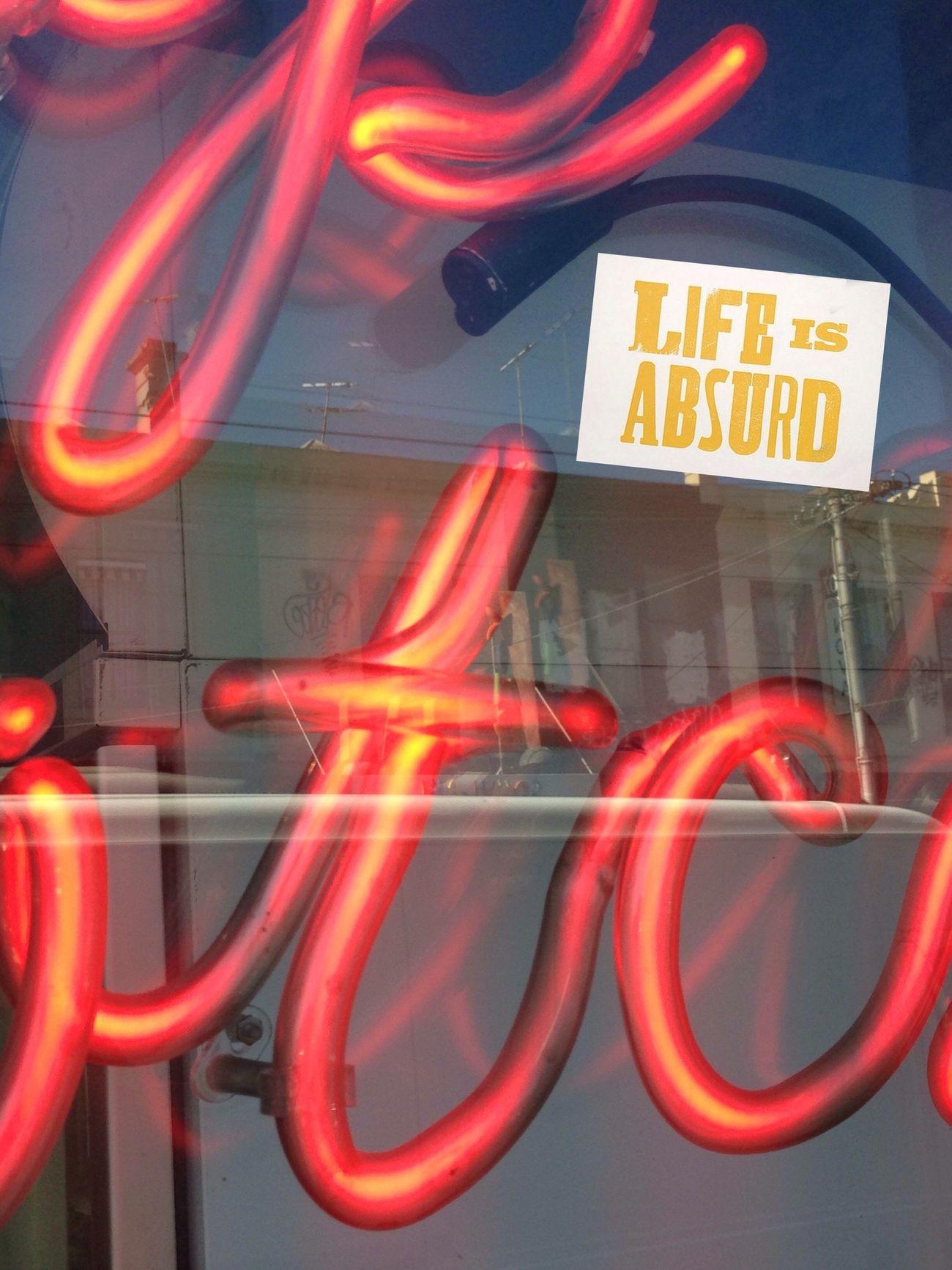 Life Is Absurd!!! On neon