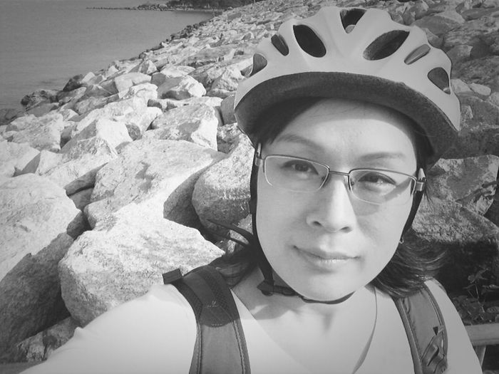 Blackandwhite Biking Selfie  Blackandwhite The Minimals (less Edit Juxt Photography) Adventure Eye4photography  Tolo Harbour Highway