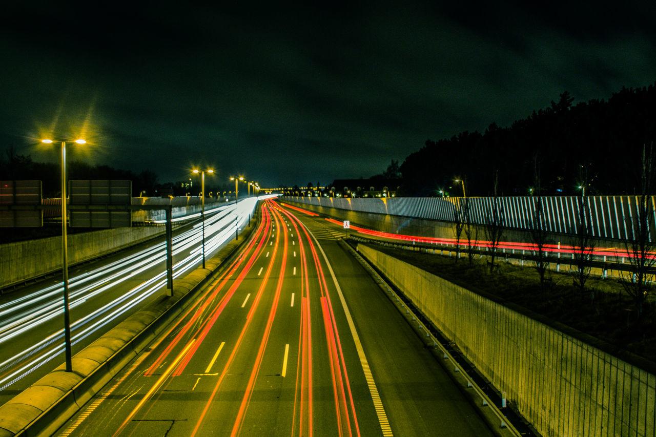 Asphalt Danmark Highway København Lights Long Exposure Night Photography Low Shutter Speed Motor Ring 3 Motorring3 Night Lights Nightphotography Road Søborg White