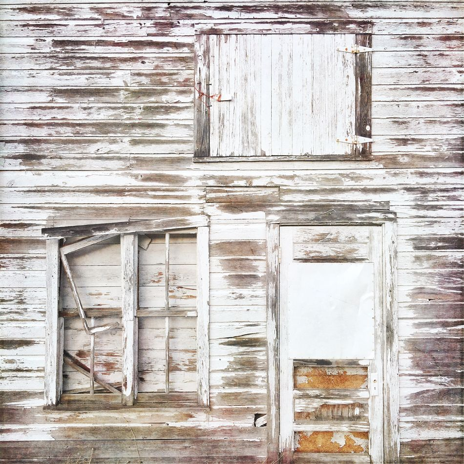 The white barn near my house--I never tire of looking at it. IPhoneography Barn White Barn White Weathered Peeling Paint Farm Ranch Americana Rural Life Old Buildings Windows Doors Fine Art Photography Color Palette