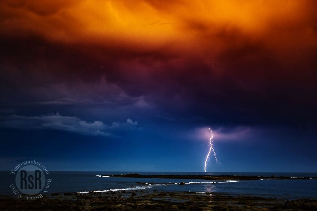 Clearing Storm Lightning Storm Lightning Thunderstorm Ocean Stormy Weather Storm Clouds NH Seacoast Seacoast New Hampshire