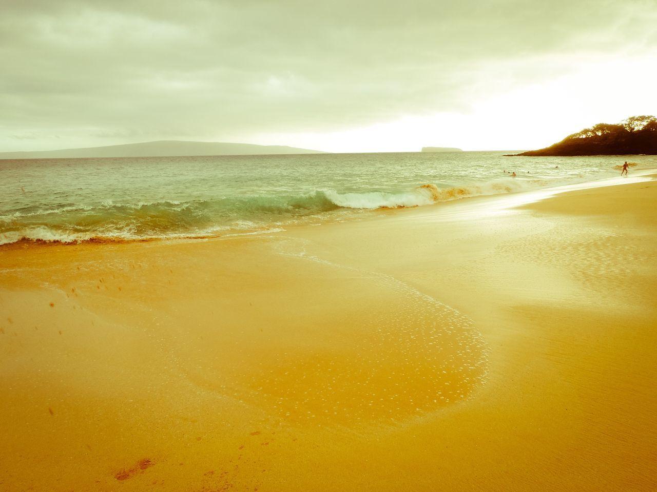Maui Kihei, Maui Makena Maui Beach Shore Sand Water Beauty In Nature Tranquil Scene Scenics