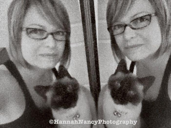 Mirror Reflection Eye4photography  Catsiamese  Black And White