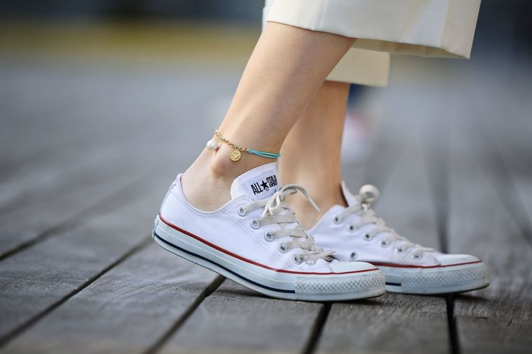 an anklet. Allstar Sneakers Accessory Anklet Foot Girl Feet On The Road On The Deck Snapshots Of Life