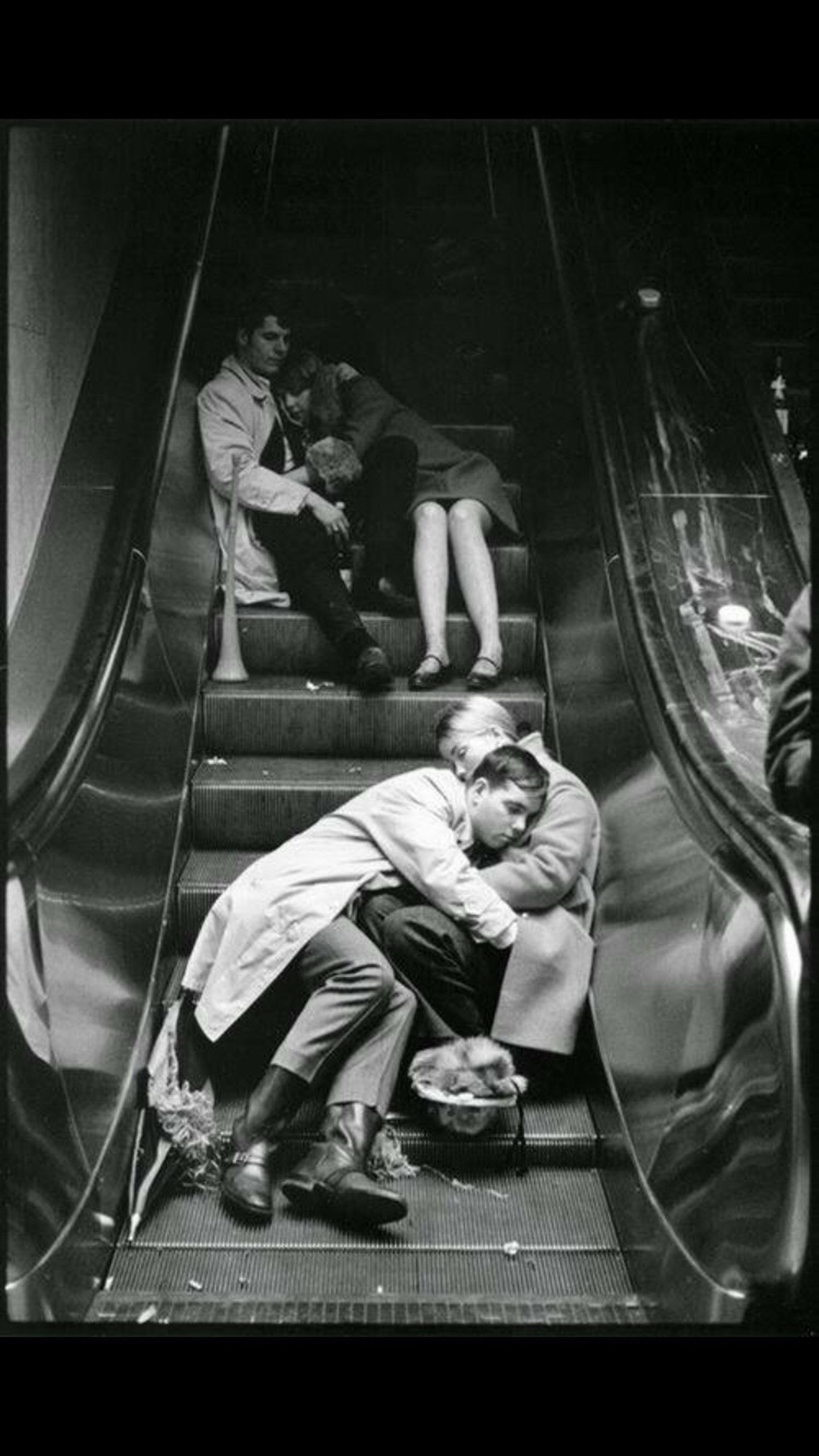archival, senior adult, senior men, only men, indoors, people, adults only, subway train, adult, men, real people, one person, one man only, day