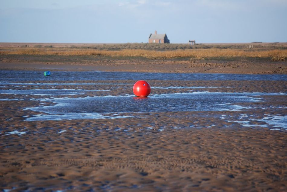 Red Water Sky Outdoors Sea No People Beach Nature Day Bouy