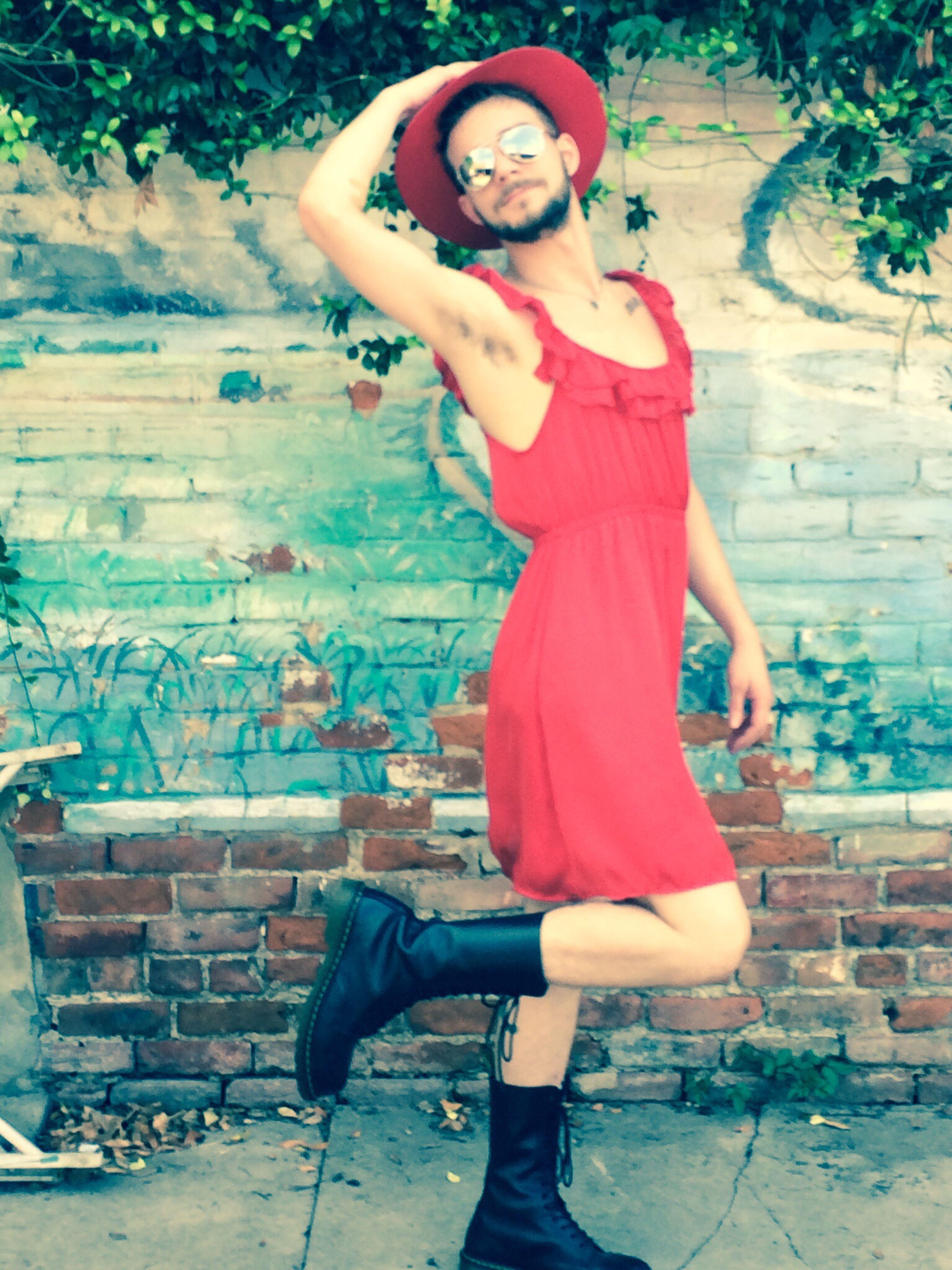 Street Fashion Enjoying Life Red Dress Run Belong Anywhere