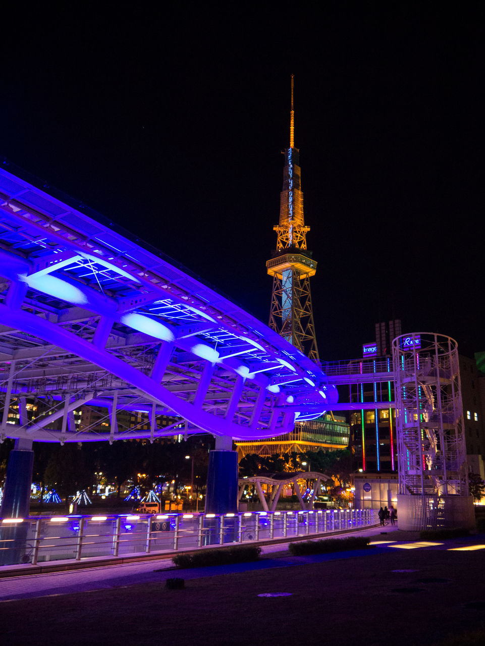 night, illuminated, architecture, built structure, building exterior, no people, outdoors, sky