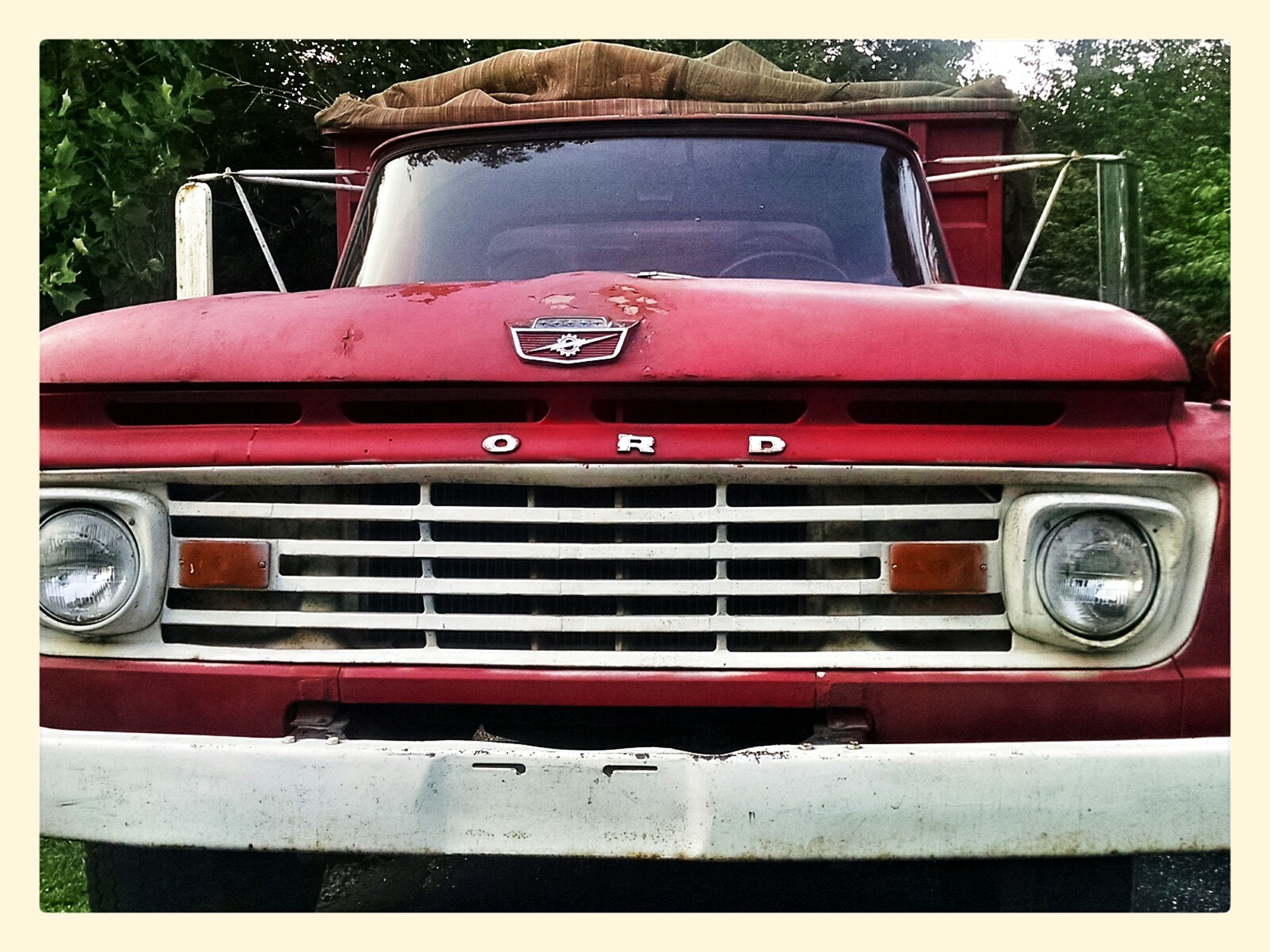 transfer print, red, transportation, land vehicle, mode of transport, auto post production filter, car, day, old, outdoors, close-up, stationary, vintage car, metal, abandoned, no people, obsolete, old-fashioned, rusty, travel