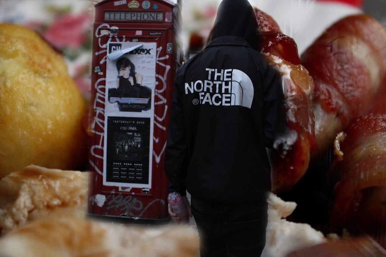 Roast hype beast Christmas Dinner Soho Supreme THE NORTH FACE The North Face Awesome Performance Food Food And Drink Text Real People Indoors  One Person Fashion Stories Men Day Freshness Close-up People