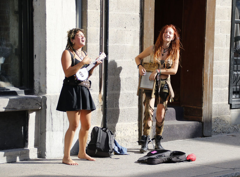 Street Musicians City Cityscapes Music Musicians Quebec Streetphotography Urban Young Women Street Photography Capturing Freedom Urban Exploration, Urban Exploration