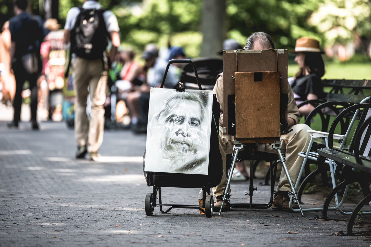 Artist Central Park City Close-up Day Focus On Foreground Nikond750 Obama Outdoors Photographyisthemuse Portrait Sitting Summer