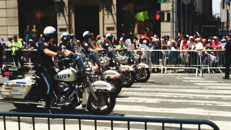 NYPD MenInBlue Police Motorcycles New York New York City Fifth Ave. Central Park Streetphotography