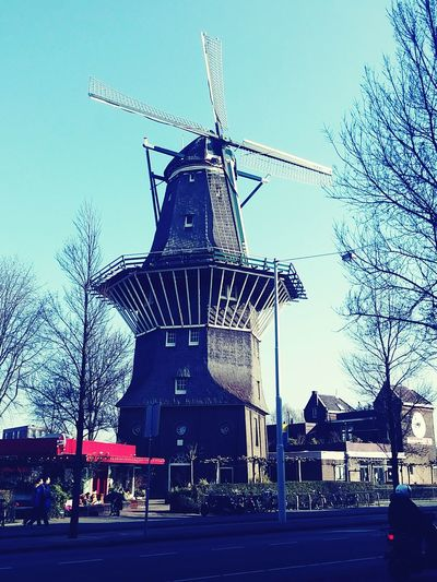 Nice Windmill Amsterdam. Amsterdam Windmill Sunny Day Holland❤