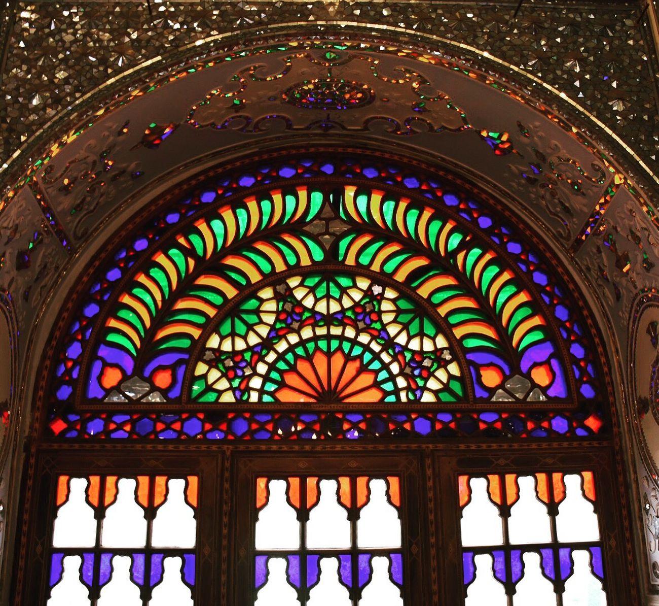 Golestan Palace Shamsolemareh Iran Tehran Colourful Light Beams First Eyeem Photo