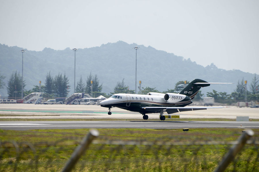 Private jet plane Air Vehicle Airplane Airport Runway Day Flying Jet Plane Landing No People Outdoors Phuket,Thailand Private Transportation Vip
