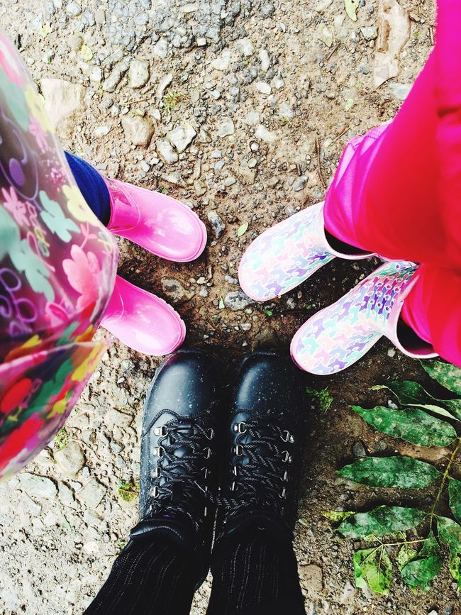 Boots are made for walking Wellington Boots Hiking Togetherness Standing Outdoors