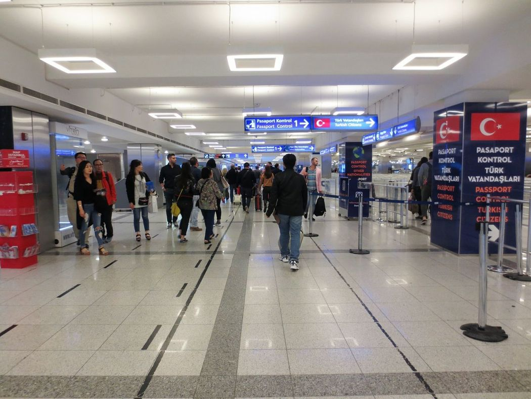 at the airport Full Length People Indoors  Illuminated Technology Adult Adults Only Day
