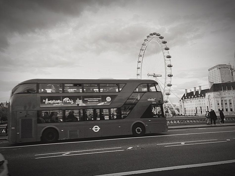 London Blackandwhite London Eye London Bus London Bridge