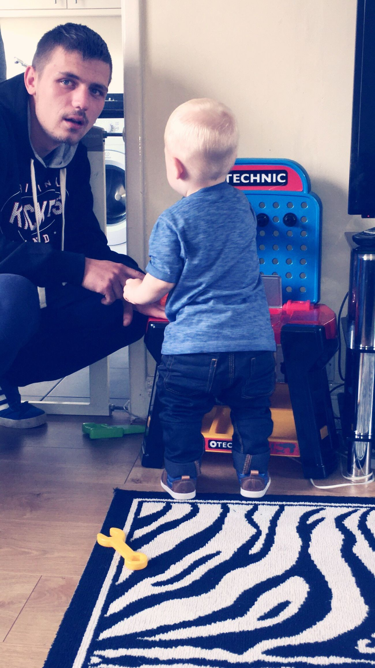 Kian loves playing with his daddy curt💙 Stepdad.. Unbreakablebond Family❤ Adore
