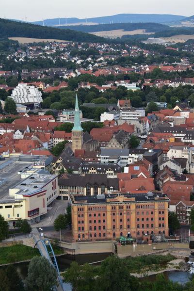 Marktkirche Cityscape Photography Cityscape Lower Saxony Niedersachsen Hamlin Hameln Von Oben Hameln City Germany Balloon Ride