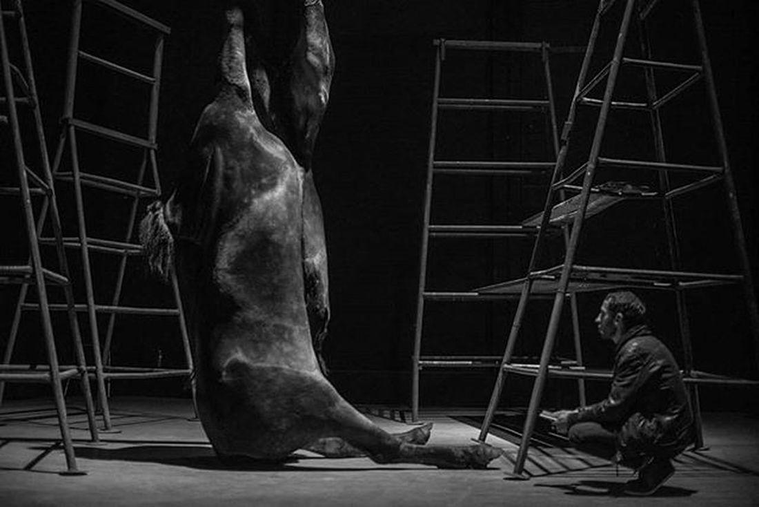 The Embalmer by Berlinde de Bruyckere (Nuit Blanche at 104, Paris 2015) Nuitblanche Igrsparis Igersparis Nuitblanche2015 263photo Paris263 Cheval