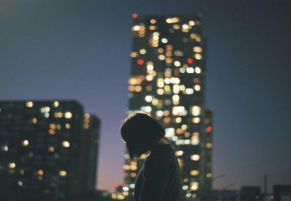 Beautiful stock photos of camera, night, illuminated, one person, people