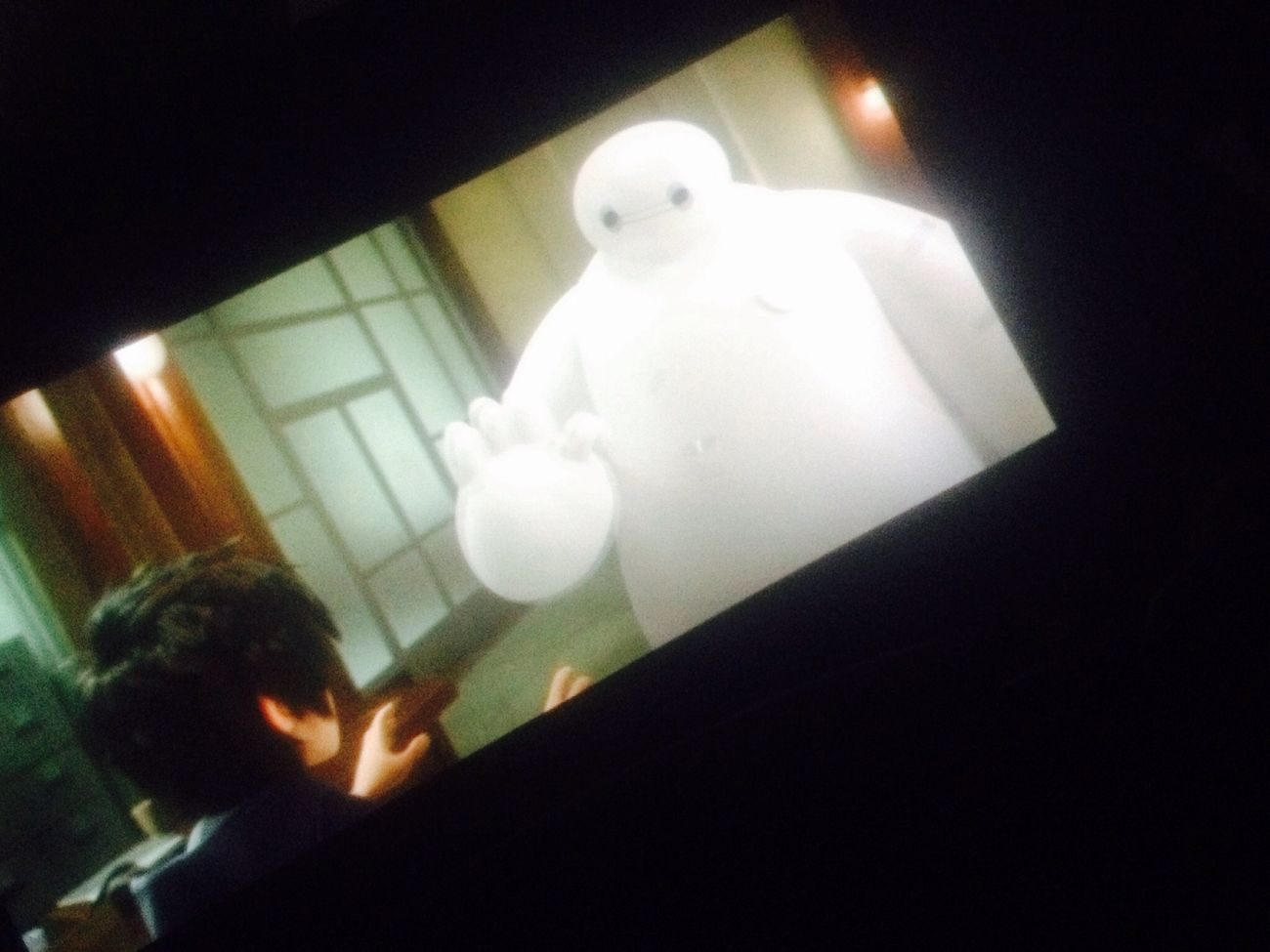 In the Cinema Cinematography MOVIE Enjoying Life nice movie BIG HERO 6⃣