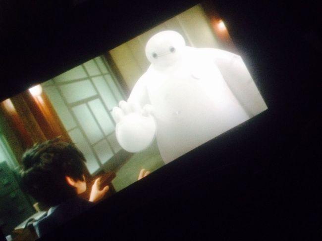 In the Cinema Cinematography MOVIE Enjoying Life nice movie BIG HERO 6⃣