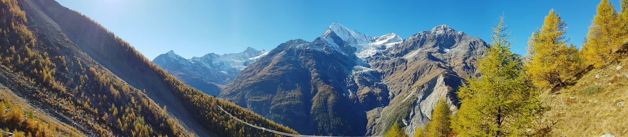 Mountain Switzerland Cervin Matterhorn  Randa Valais Panoramic Galaxys8 GalaxyS8+ Low Angle View Nature Outdoors No People Day Sky Beauty In Nature Matterhorn  Nature Low Angle View Perspectives On Nature EyeEmNewHere Be. Ready.
