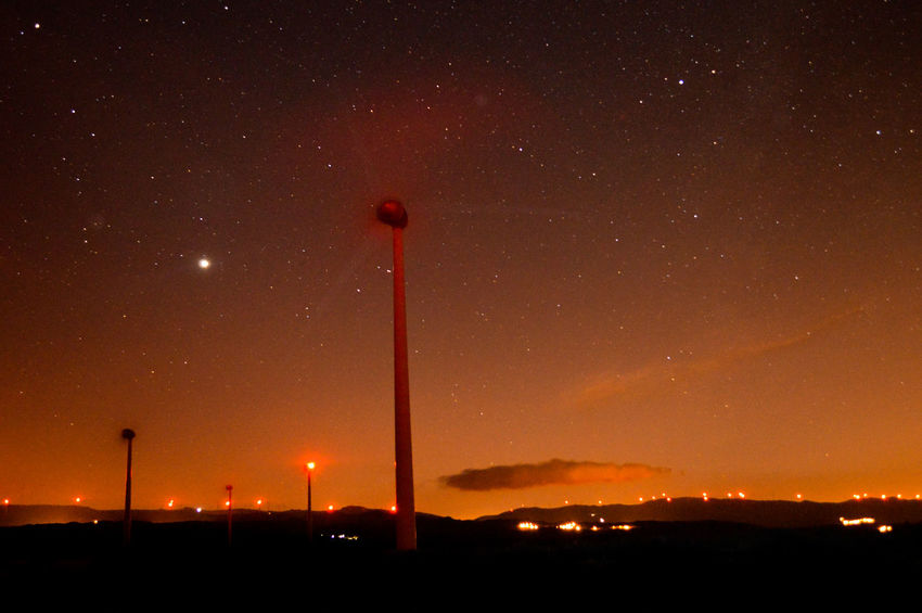 Orange sunset First Eyeem Photo Nightphotography Stars Orange Sky