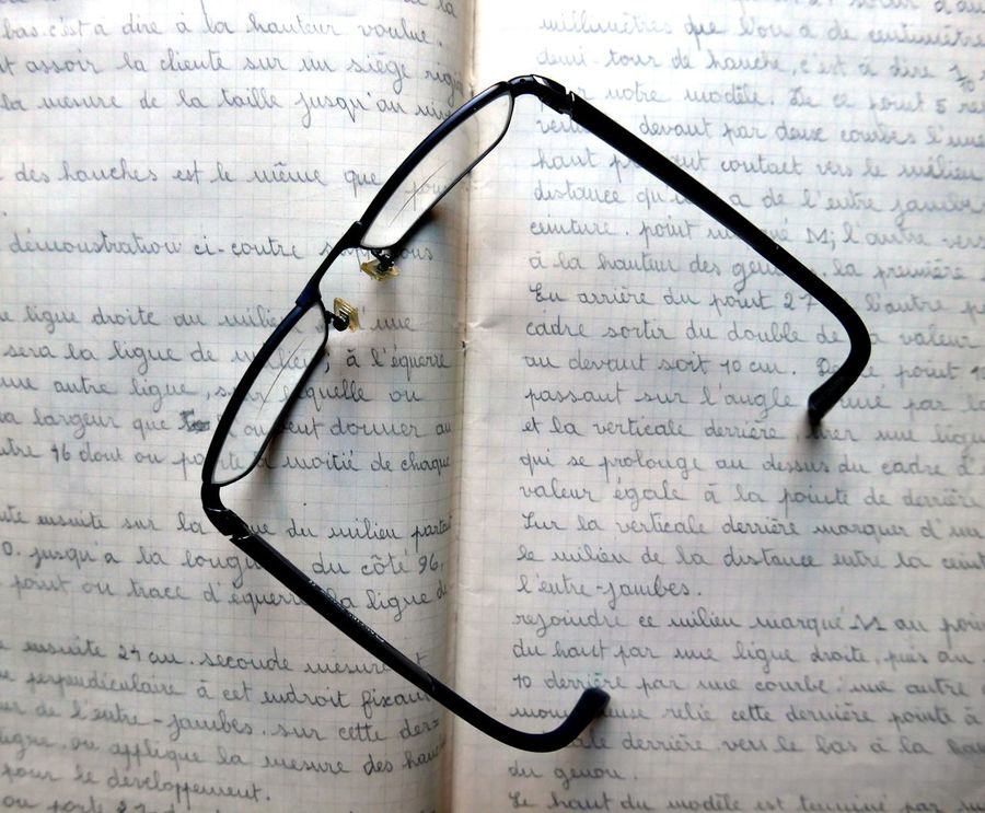 Text written by hand in a notebook and glasses Text To Write Glasses Notebook Students School Studying