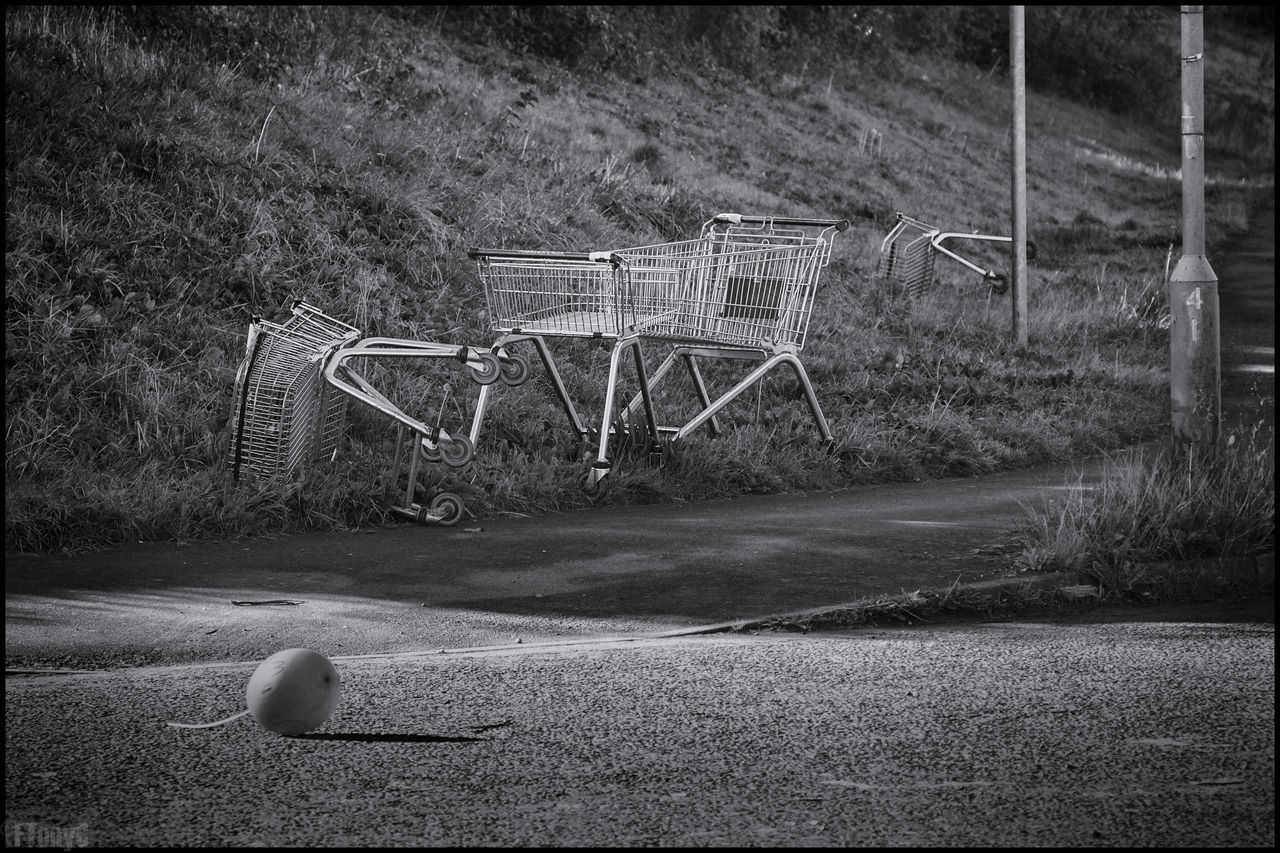 Abandoned Aftermath Blackandwhite Drunk Drunk Nights Grass Hungover Monochrome Morning After Party Shopping Supermarket Trolli Trolly Urban Landscape Street Photography Festive