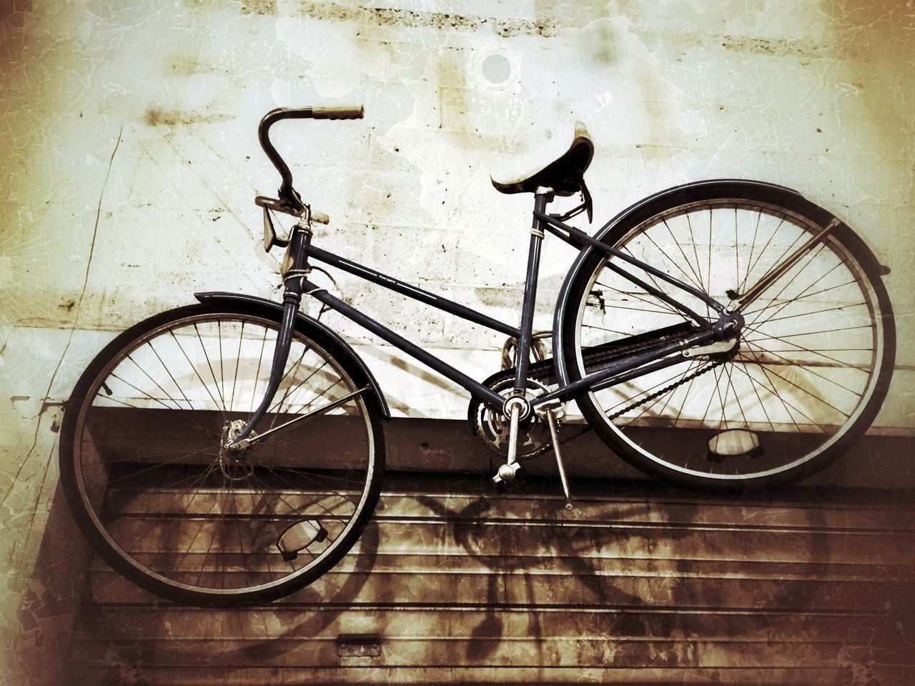 Bike Bicycle Hanging Out Warehouse Wheels Shadow Shadows On The Wall Spokes Lookup Ipstransport