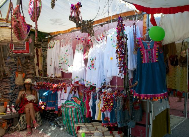 Bags Choice Collection Dresses Hanging Hippy Market Large Group Of Objects Las Dalias  Retail  hippy market San Carlos Ibiza