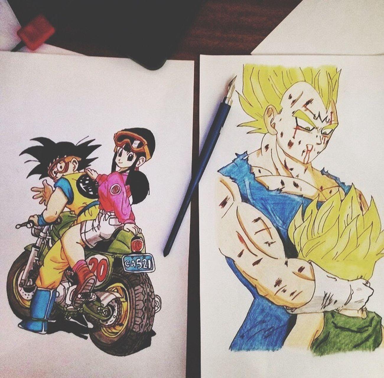 Draw draw <3 Dragonballz Goku Vegeta Drawing Manga