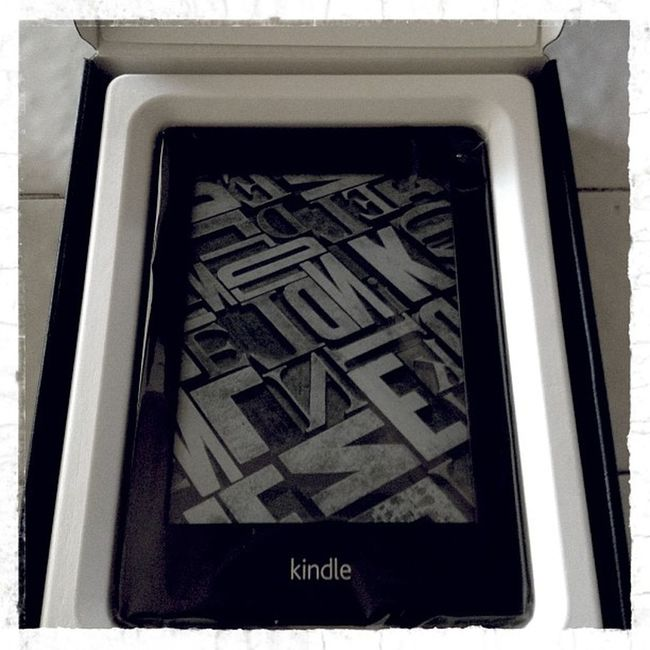 And my other gift to myself for being so effing awesome.. It is a lot smaller but of well..Bookporn Kindle Lindlelover Booknerd amazonpaperwhitemomsnewtoylove