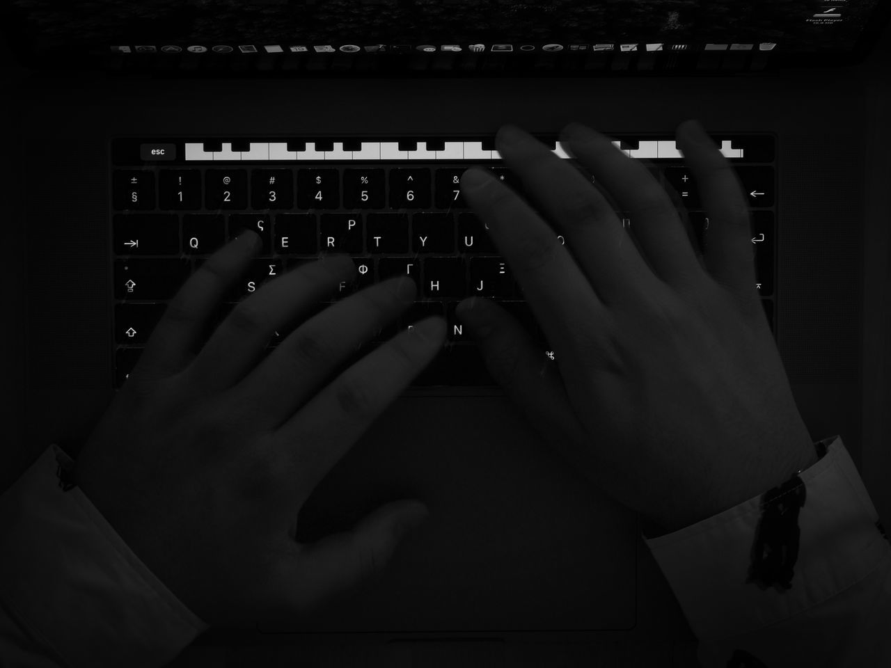 App Black Black And White Brake Fingers Having Fun Human Hand Indoors  Keyboard Keyboard Instrument Laptop Lowlight Music Piano Piano Moments Shirt Sleeve  Technology EyeEmNewHere Flying High