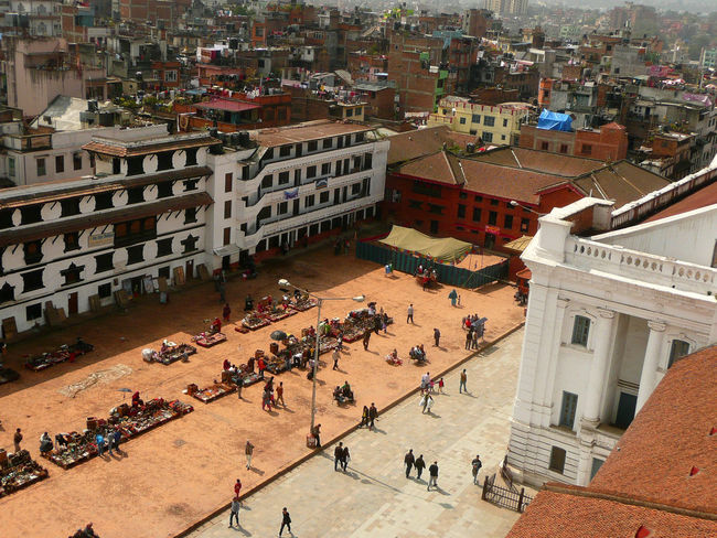 Aerial View Architecture Building Exterior Built Structure Capital Cities  City City Life Cityscape Community Durban Square Durbar Durbar Square Elevated View Flea Market High Angle View Kathmandu+ Lifestyles Mixed Age Range Outdoors Residential District Residential Structure Tourism Town TOWNSCAPE Travel Destinations