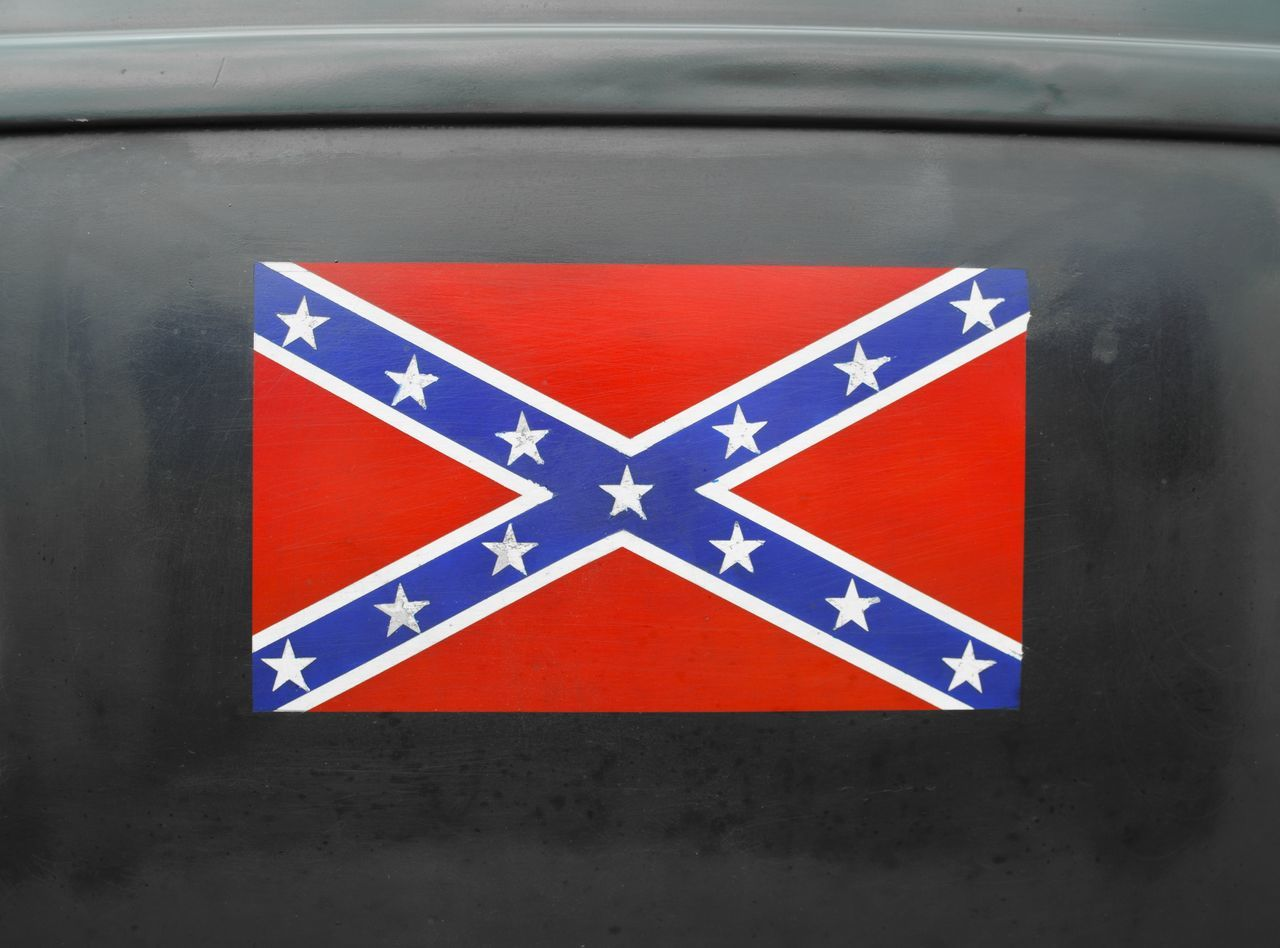Hotrod Confederate Flag American Flag General Lee Stencil Confederate